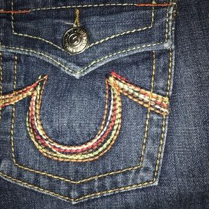 Awesome True Religion Rainbow Joey jeans SZ 28